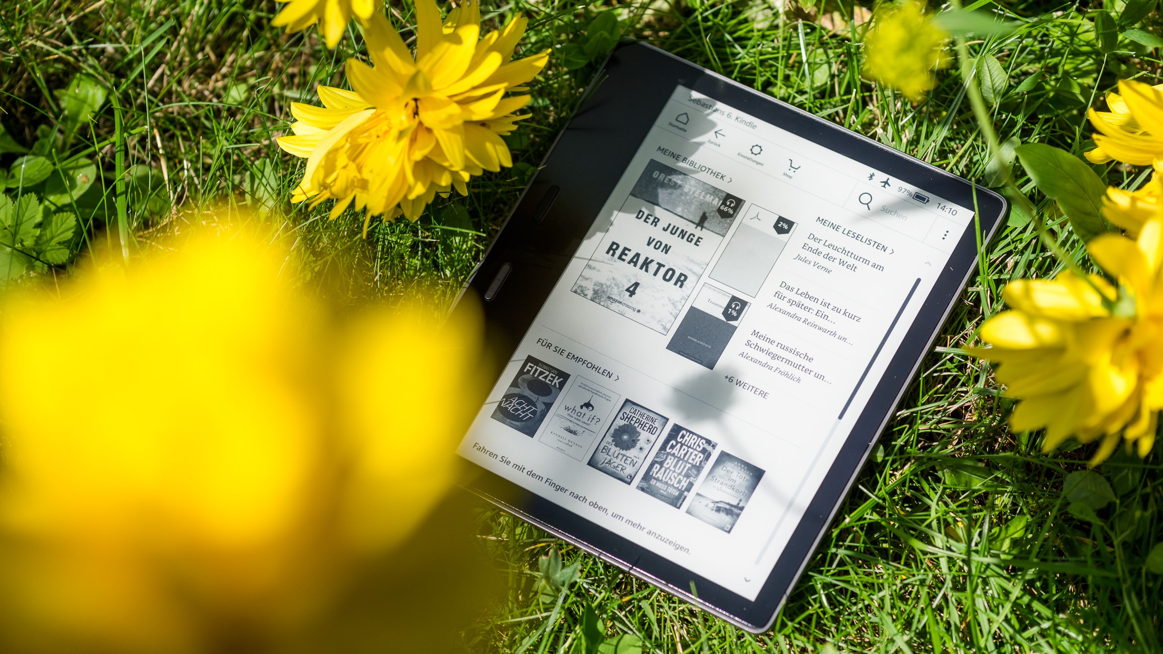 E-Book-Reader Kindle Oasis im Test: Wo Amazons Spitzenmodell spitze ist
