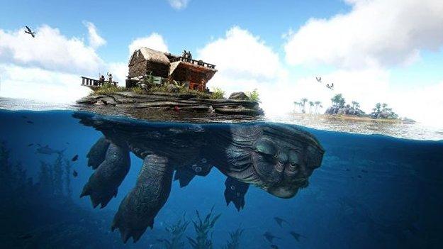 ARK: Genesis lässt euch Häuser auf Riesenschildkröten bauen
