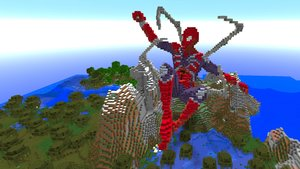 Minecrafter erschafft riesigen Avengers Endgame Spider-Man – und er fliegt!