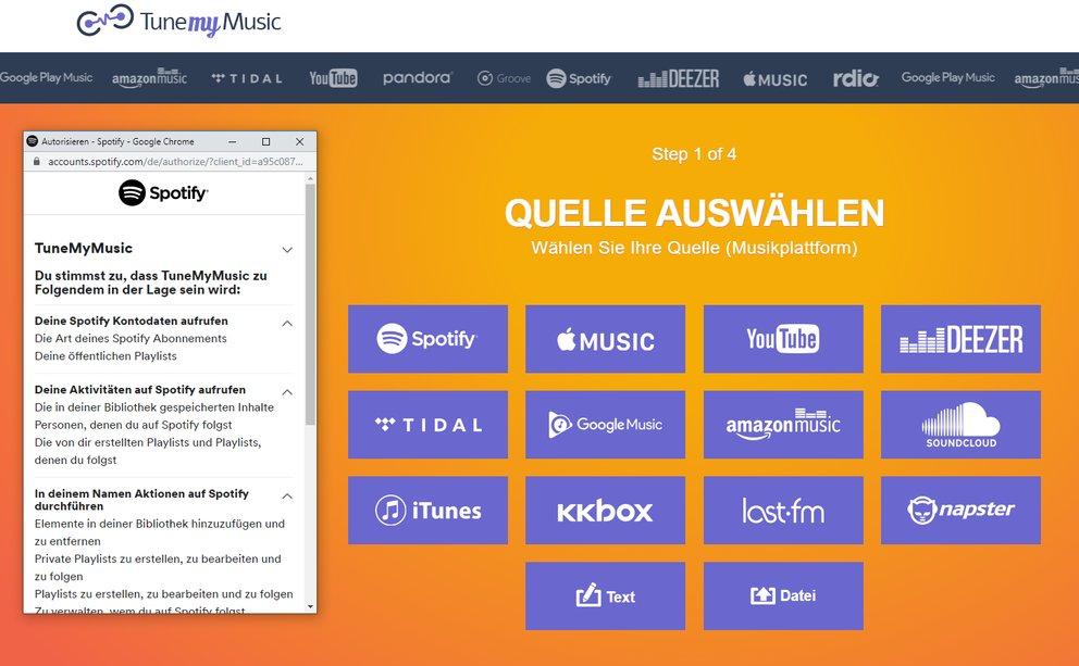 Spotify Playlist Umziehen