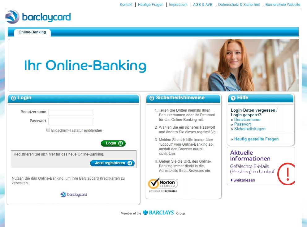 Barclaycard Kontoübersicht