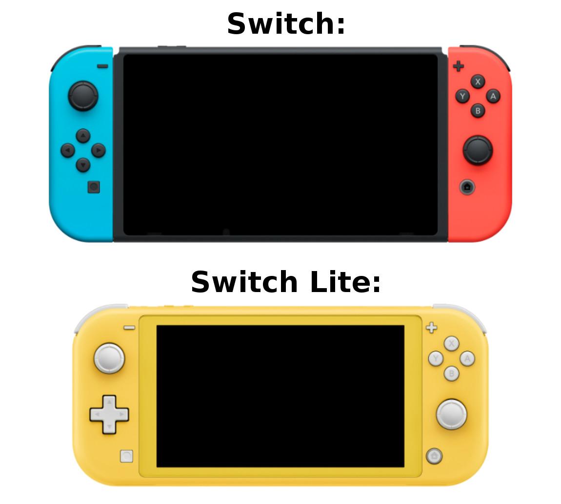 Switch Lite vs. Switch – Was sind die Unterschiede?