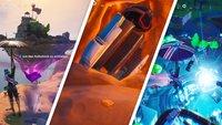 Fortnite: Leuchtender Würfel, Landekapsel und steige in einen Riss - Fundorte