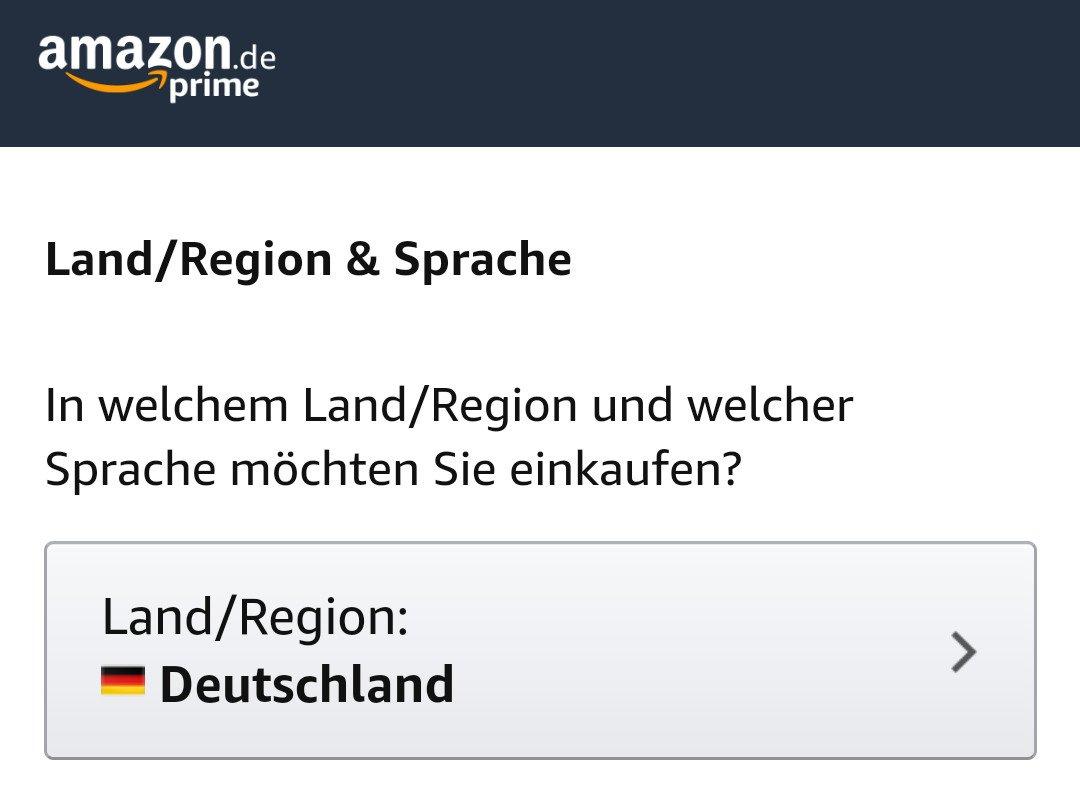 Amazon Sprache ändern
