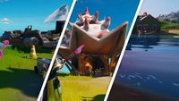 Fortnite: Besuche Bootsrampe, Coral Cove und Zapplerteich - Fundorte