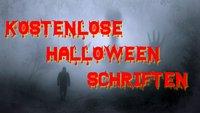 Halloween-Schriften für Einladungen Poster und Grusel-Bilder