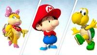 Mario Kart Tour: Fahrer mit Schleife, Kopfbedeckung und Panzer
