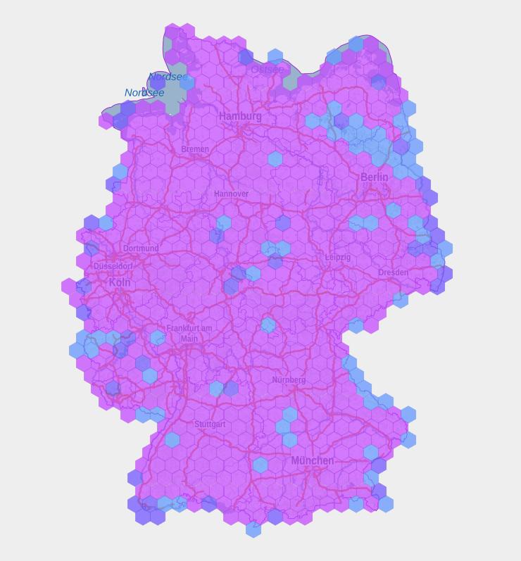 handyempfang karte deutschland Funklöcher von o2, Vodafone und Telekom in Deutschland: Auf dieser