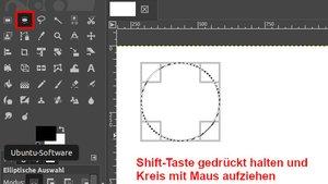 GIMP: Kreis zeichnen – so geht's