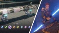 Star Wars Jedi Fallen Order: Alle Lichtschwertfarben und Doppeklinge freischalten