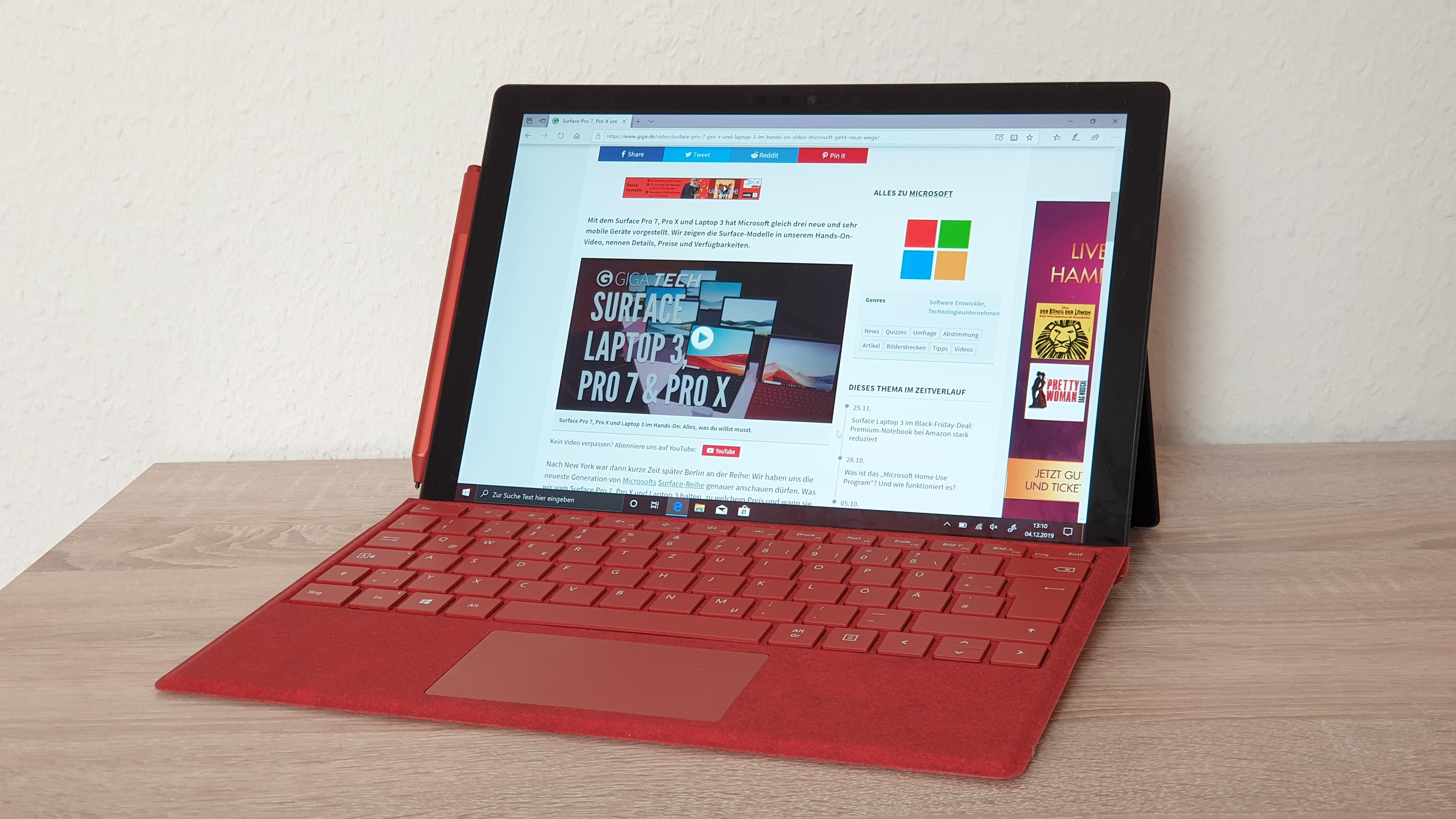 Surface Pro 7 im Test: Das beste Windows-Tablet – jetzt mit USB-C