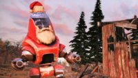 In Fallout 76 verteilen Roboter Weihnachtsgeschenke