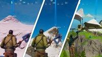 Fortnite: Tanze auf Spitzen von Mount H7, Mount F8 und Mount Kay