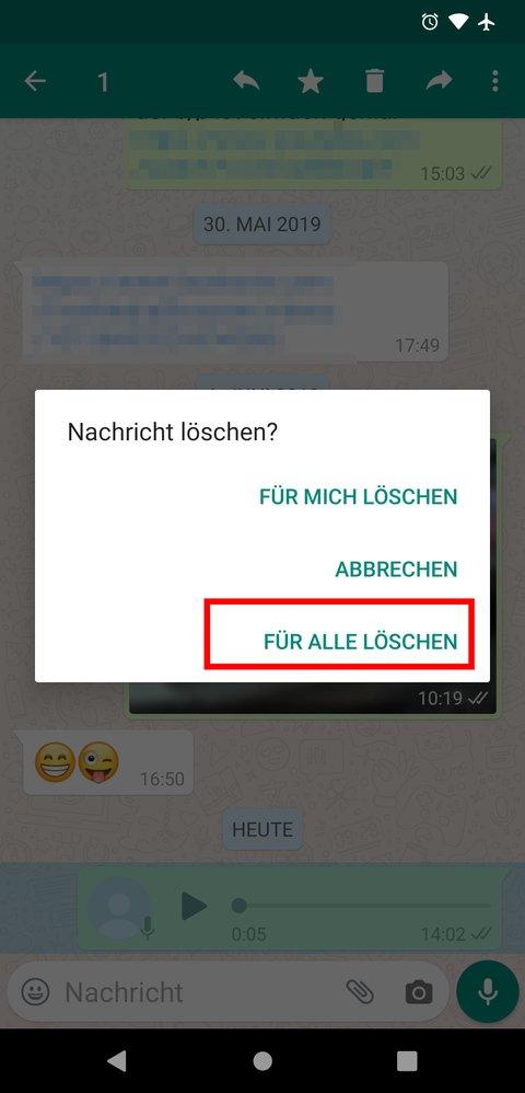 Sprachnachrichten Whatsapp Löschen