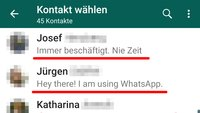 WhatsApp: Status ändern – so geht's