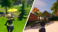 Fortnite: Tanze bei Lake Canoe, Camp Cod & Rainbow Rentals - Fundorte