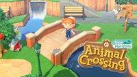 Animal Crossing - New Horizons: Baumstamm-Pfahl-Set und Brücke bauen
