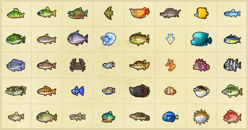 Animal Crossing Fische