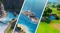 Fortnite: Schiffbruch-Bucht, Yacht und Zapplerteich - Fundorte