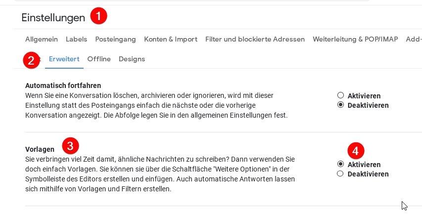 Gmail Vorlagen