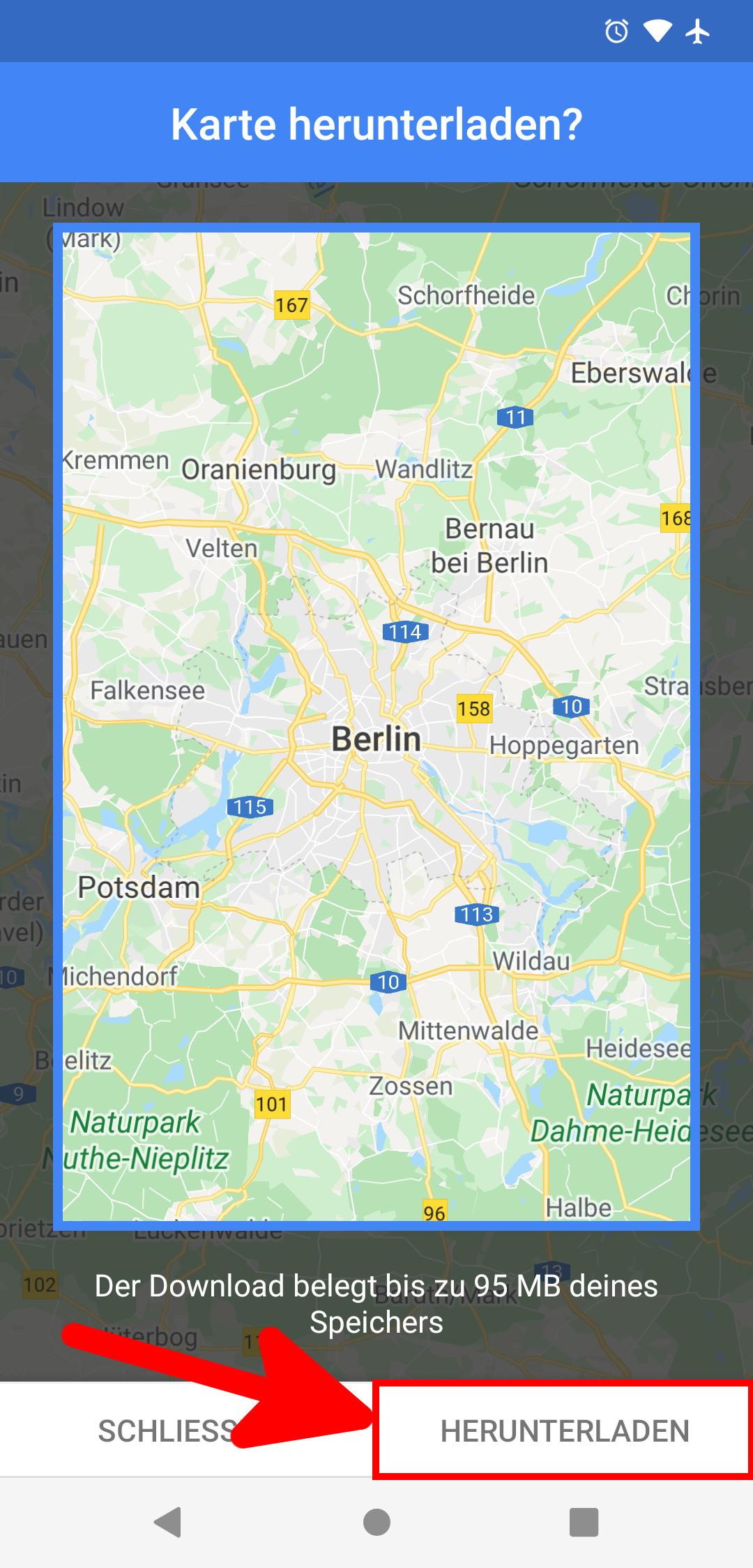 Deutschlandkarte Offline