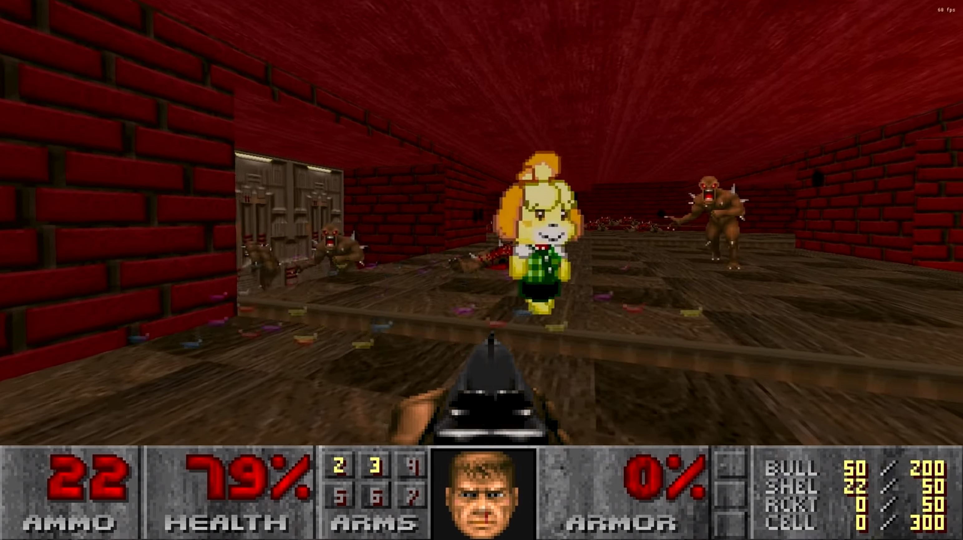 Doomguy And Isabelle Are Now Fighting Together Thanks To Mod Games 4 Geeks