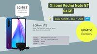 Tarif-Burner: Xiaomi-Handy, Kabellos-Kopfhörer, Allnet-Flat und 5 GB LTE für 10,99 €/Monat