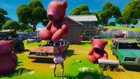 Fortnite: Großer rosa Teddybär - Fundort