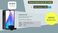 Super Tarif-Bundle: Xiaomi-Handy, Kopfhörer, 5 GB LTE & Allnet-Flat für 11€/Monat