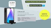 Hammer-Tarif: Xiaomi-Handy, Kopfhörer, 7 GB LTE & Allnet-Flat für 12€/Monat