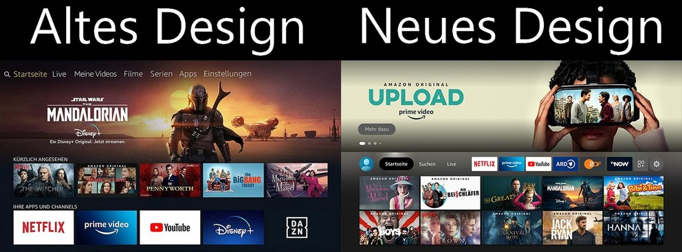 Amazon Fire TV Neues Design