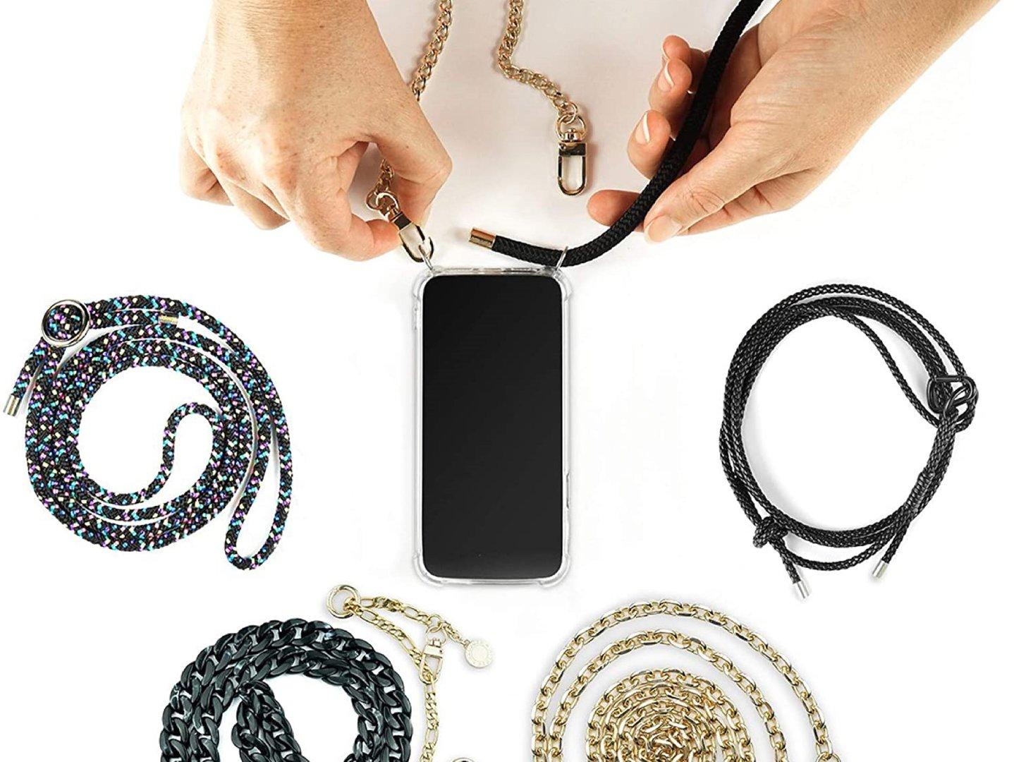 Einzelne Handykette Essence abnehmbares Handyband f\u00fcr iPhone und Samsung Handyh\u00fcllen Matcha Handyband Handykordel zum Konfiguerieren