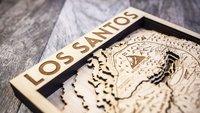 GTA 5: Diese Los Santos-Karte in Holz geschnitzt ist ein echtes Schmuckstück