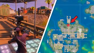 Fortnite: Tanze vor der Kamera bei Sweaty Sands