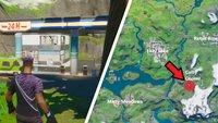 Fortnite: Tankstelle bei Catty Corner - Fundort