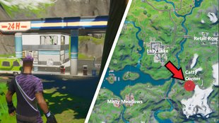 Fortnite: Tankstelle bei Catty Corner - Fundort