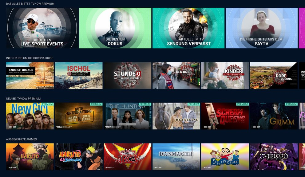 Tv Now Mediathek Streamingdienst Von Rtl Vox N Tv Co