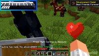 Minecraft kann man auch mit dem Midi-Keyboard spielen, wie ein YouTuber zeigt