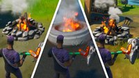 Fortnite: Lagerfeuer bei Camp Cod - Fundorte