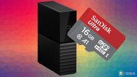 SD-Karten und Festplatten von SanDisk und WD jetzt bei Amazon im Angebot