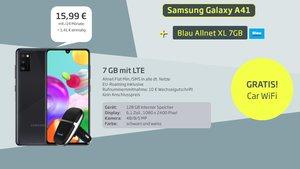 Spartarif: Samsung-Handy + 7 GB LTE + Zugabe für 16€/Monat
