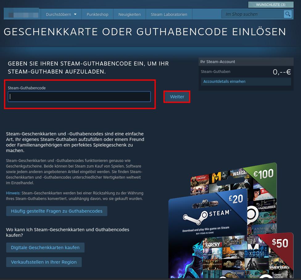 Steam: Guthaben aufladen & auszahlen lassen – so geht's