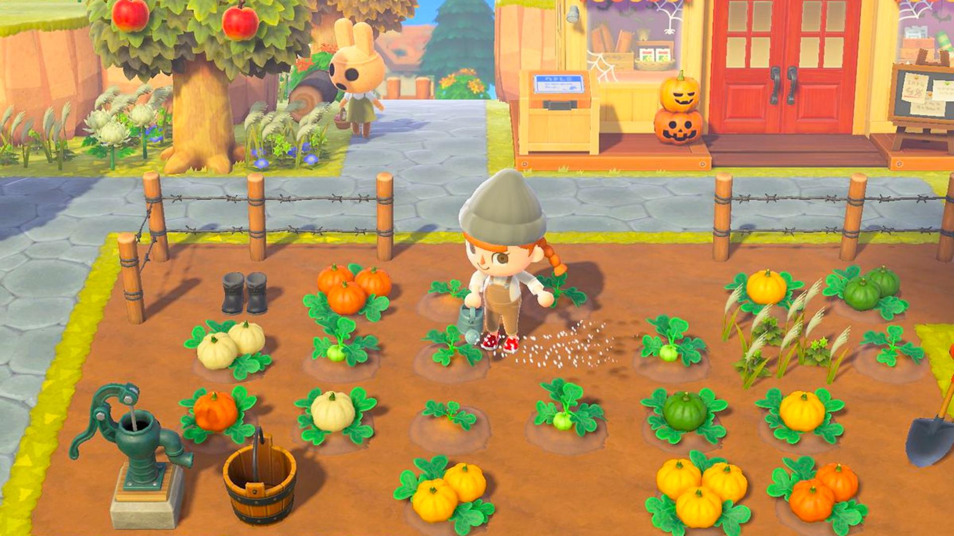 Animal Crossing   New Horizons Halloween Kürbisse anpflanzen ...