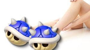 """Hässliche Designer-Sneaker wollen """"Mario Kart""""-Item Konkurrenz machen"""