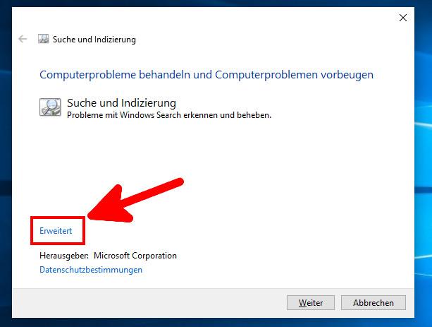 Falsche Berechtigungen Für Windows Search-Verzeichnisse Win 10