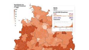 Coronavirus: Karte für Deutschland zeigt Risikogebiete