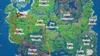 Fortnite: Fahre von Sweaty Sands nach Misty Meadows - Guide