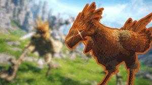 Roter Mörder-Chocobo terrorisiert Spieler in Final Fantasy