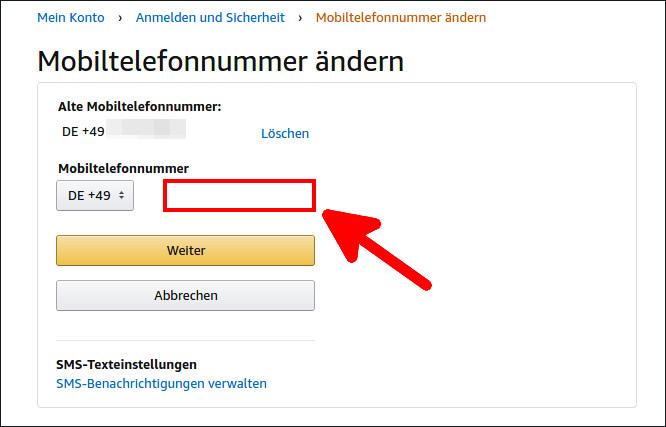 Telefonnummer Amazon.De