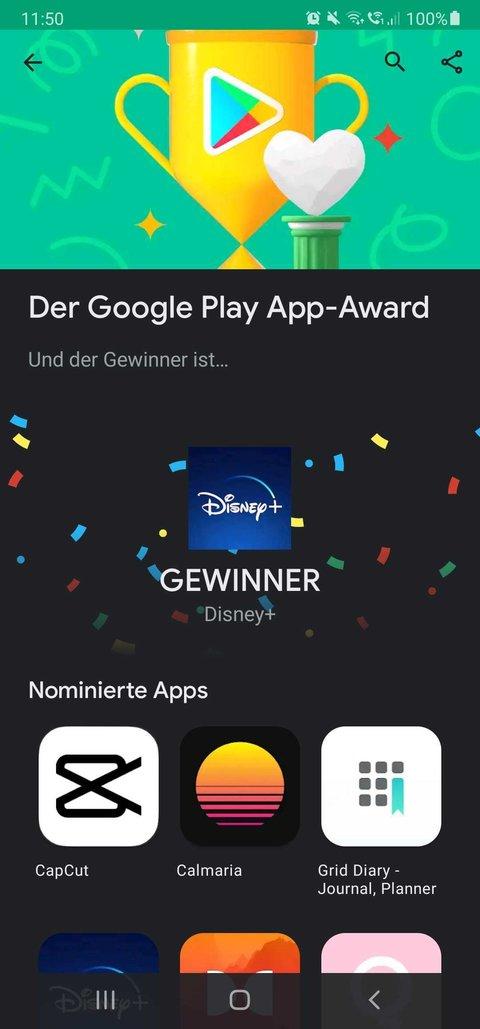 Disney + est l'application Android de l'année